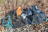 Sea shore litter collected from Champ Rouget, Chouet on Guernsey's north coast on 4th February 2014