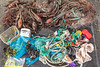 The first image of Belle Greve Bay sea shore litter taken on 24 November 2018.  As the beach clean proceeded more and more rubbish was collected so more images were taken.