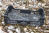 Llorens Capdevilla Black plastic crate from Spain washed up at Petit Port on Guernsey's south coast on 29th January 2021