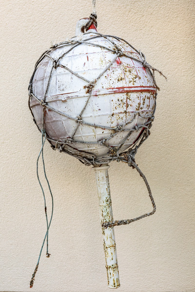Fishing float collected from Vazon on Guernsey's west coast by 'Found on the Beach in Guernsey' Facebook group member