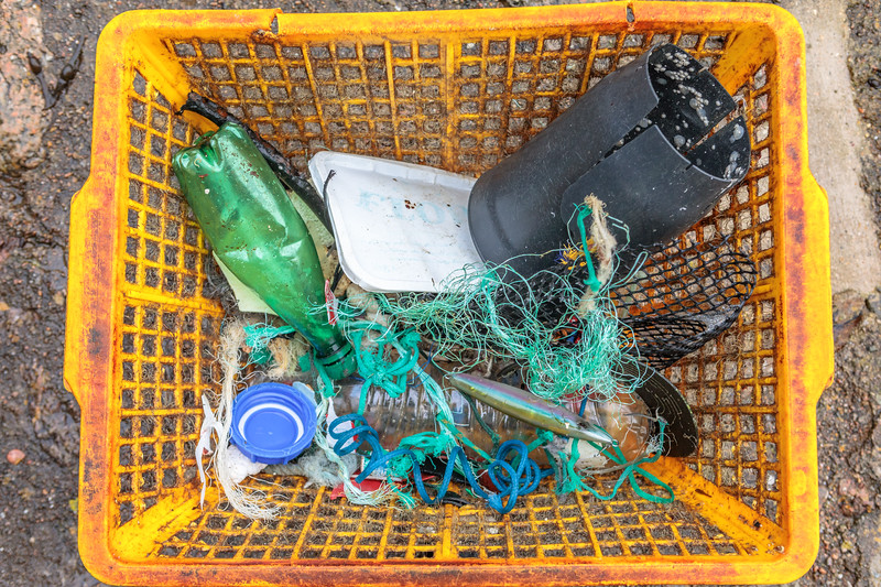 Petit Port beach litter collected on 6th December 2019