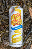 Nabisco Easy Cheese spray can on the seaweed strand line at Petit Port on Guernsey's south coast on the 7th October 2021