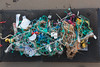 Plastic and Nylon sea shore litter collected from Petit Port on Guernsey's south coast on 20 January 2014