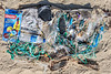 Beach clean litter from Portinfer on Guernsey's west coast