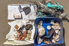Boulder trapped and buried plastic litter recovered from Petit Port on Guernsey's south coast on the 5th June 201
