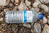 Waitrose plastic water bottle at Petit Port on Guernsey's south coast on 8th July 2020