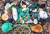 Litter collected from Petit Port on Guernsey's south coast on 12th October 2019