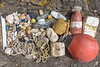 Litter found in a small cave at the top of a ravine leading to Telegraph Bay on Guernsey's south-east coast