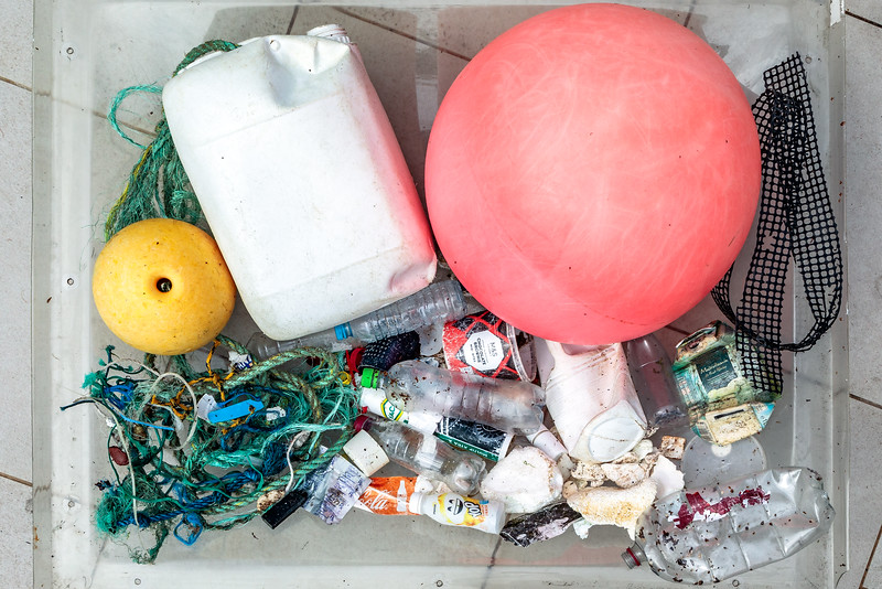 Petit Port beach litter collected on 21st August 2020