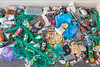 Belle Greve Bay sea shore litter collected on 7th October 2013