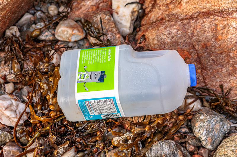 This plastic milk carton is from Ireland. It washed up at Petit Port on Guernsey's south coast on 25th October 2019