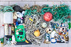 Some of the marine litter collected at Petit Port on Guernsey's south coast on 1st October 2019