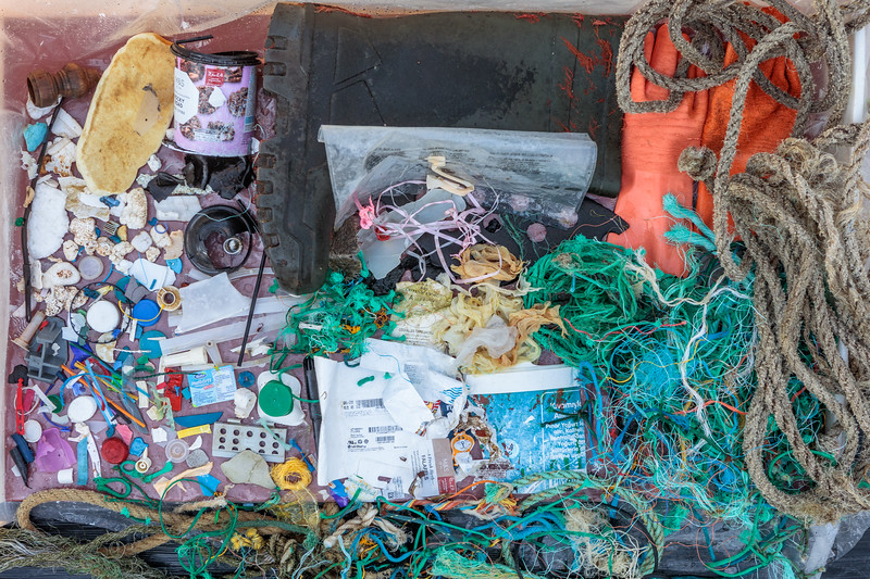 Petit Port beach litter collected on the 10th November 2018