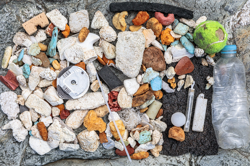 Pleinmont beach clean litter collected on 24 August 2019