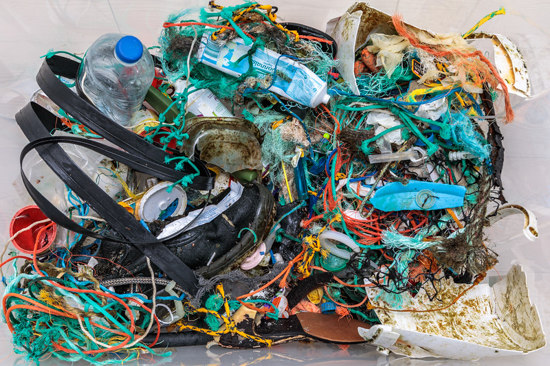 Petit Port beach clean litter collected on 10 February 2019