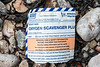 Label for Oxygen Scavenger Plus used for boiler water treatment washed up on the Petit Port sea shore on 18 January 2019