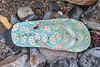 Flip flop washed up at Pleinmont on Guernsey's south west coast