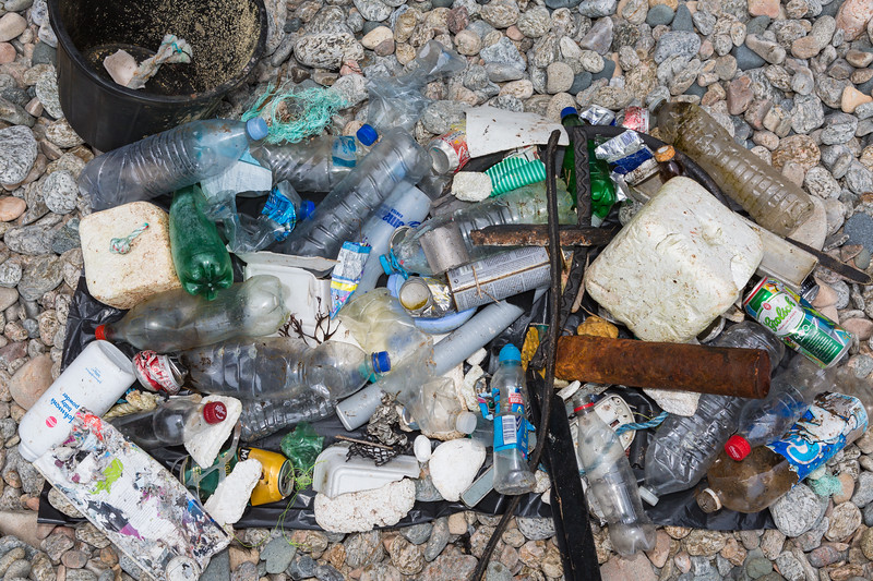 Litter collected from Soldier's Bay, Guernsey on 20 March 2016