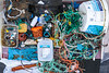 Marine litter collected from Petit Port on Guernsey's south coast on 11 November 2018
