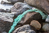 Rope trapped under boulder at Portinfer on Guernsey's west coast on 9th December 2019