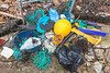 Plastic litter collected from the sea shore at Petit Port on Guernsey's south coast on 16th February 2014