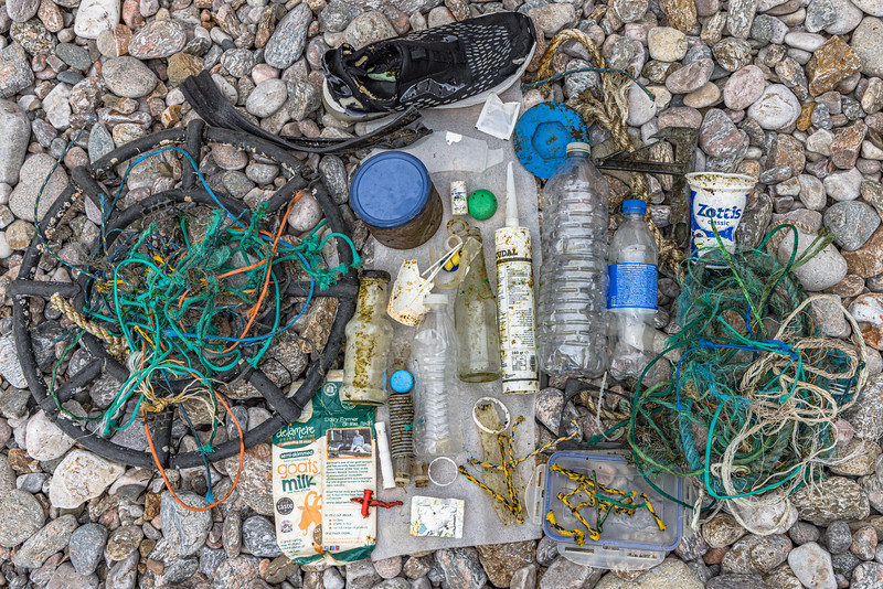 Petit Port beach litter collected on the 24th May 2021