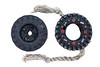 Two toy tyres collected from Champ Rouget, Chouet on Guernsey's north west coast