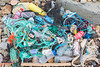 Marine litter collected along 80 yards of the Portinfer sea shore on Guernsey's west coast on 18th November 2017