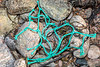Polypropylene netting washed up at Petit Port on Guernsey's south coast on 13th February 2020