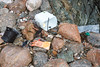 Strand-line litter at Petit Port on Guernsey's south coast
