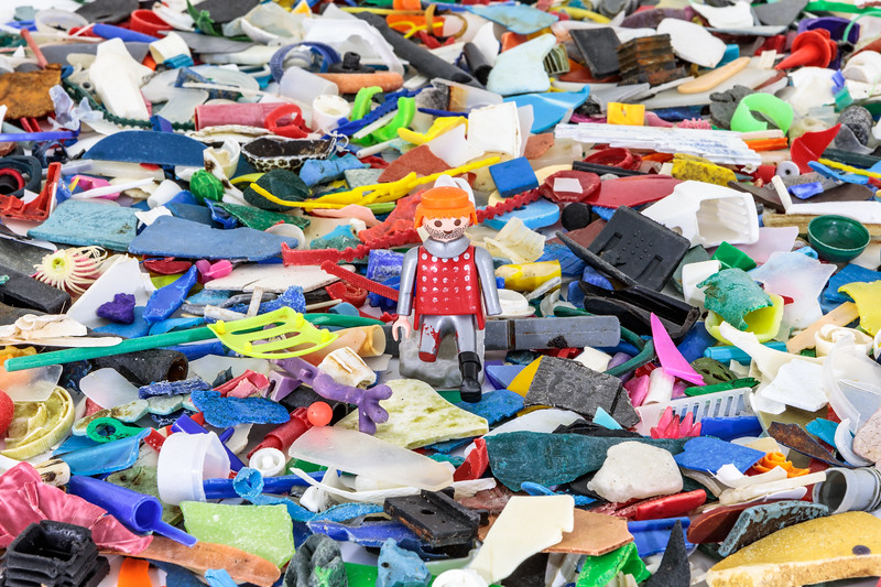 Small pieces of marine plastic litter collected from the Guernsey sea shore during 2018.