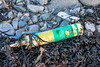 Tube of silicone sealant from Dubai, UAE washed up at Portinfer on Guernsey's west coast on 9th December 2019