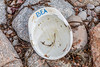 Hard hat made in Spain marked BEA washed up at Petit Port on Guernsey's south coast on 12th December 2019