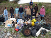 Marine litter and debris collected from the sea shore at Champ Rouget, Chouet on 27 April 2008