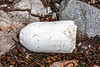 Polystyrene fishing float on the shore of Petit Port on Guernsey's south coast on 3rd September 2020