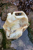 Diversey Ltd plastic jug for cleaning agent washed up at Petit Port on Guernsey's south coast on 4th October 2020