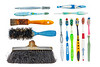 Brushes lost at sea that washed up on a Guernsey beach
