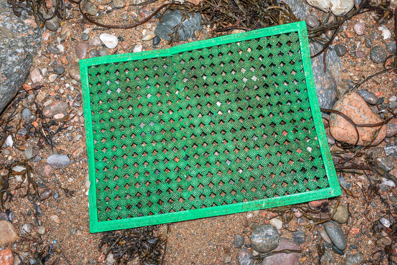 Plastic mat washed up at Petit Port on Guernsey's south coast on 9th February 2020