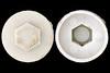 white hexagonal cap 3061