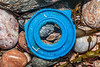 Blue hard plastic piece washed up at Petit Port on Guernsey's south coast on 10th March 2020