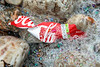 Coca Cola bottle label washed up at Petit Port on Guernsey's south coast on 6th December 2019