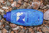 plastic shampoo bottle washed up at Petit Port on Guernsey's south coast on 28th February 2020
