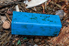 """Blue plastic container at Petit Port on Guernsey""""s south coast on the 22nd February 2020"""