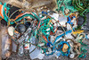 Beach litter collected from Petit Port on Guernsey's south coast on 22nd August 2020