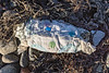 Single use nappy on the Belle Greve Bay sea shore on Guernsey's east coast on 12th February 2021