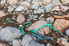 Thick, braided and twisted rope washed up at Petit Port on Guernsey's south coast on 17th February 2020