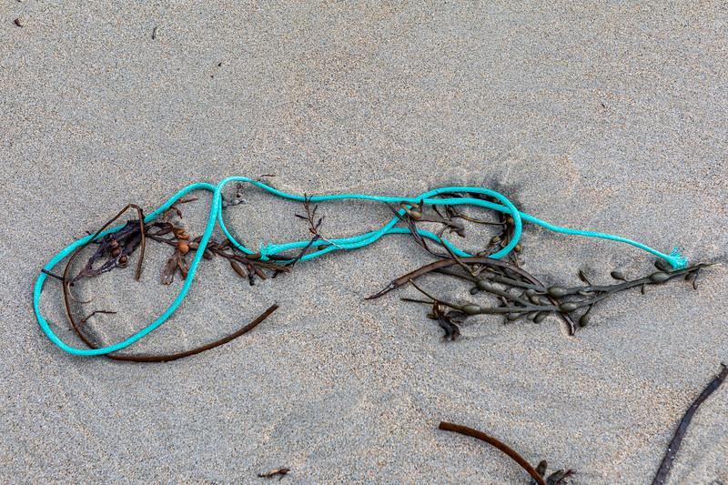 Polypropylene twine washed up at Petit Port on Guernsey's south coast on 28th November 2019