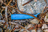 Piece of blue plastic handle washed up at Petit Port on Guernsey's south coast on 28th November 2019