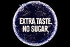 Plastic bottle top with the words 'Extra Taste No Sugar' collected from the Guernsey sea shore