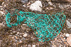 A piece of fishing net washed up at Petit Port on Guernsey's south coast on 16th December 2020